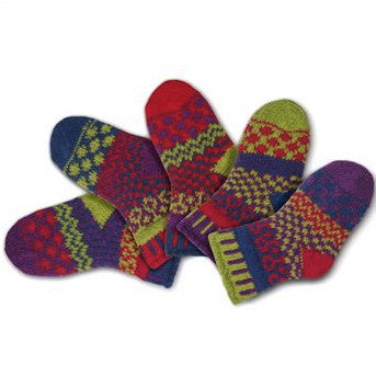 Dragonfly Mismatched Knitted Baby Socks