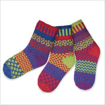 Dragonfly Mismatched Knitted Kids Socks