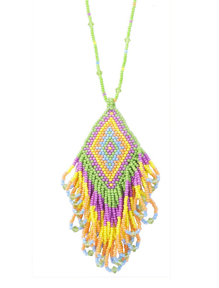 Dreamcatcher Diamond Tassle Necklace