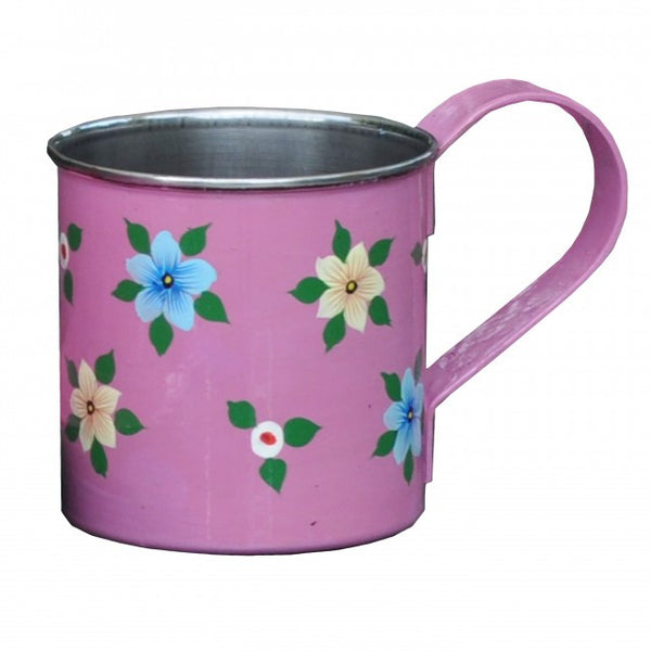 Dusty Pink Hand Painted Enamel Mug