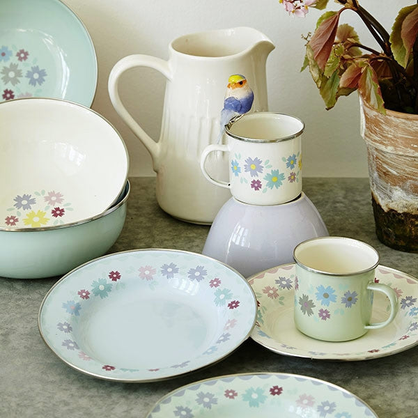 Rice DK Enamel Tableware with Flower Print