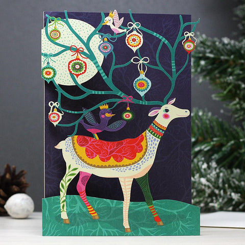 Enchanting Reindeer Lasercut Christmas Cards
