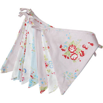 Mixed Floral Fabric Bunting