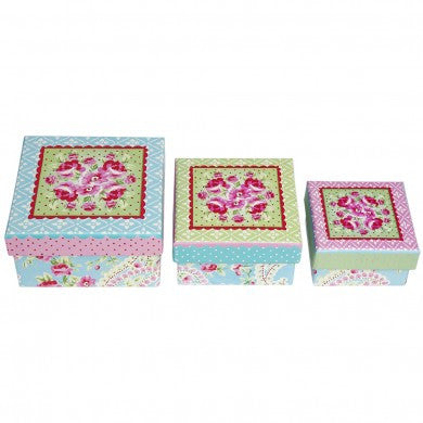 Floral Nesting Boxes - Set of 3