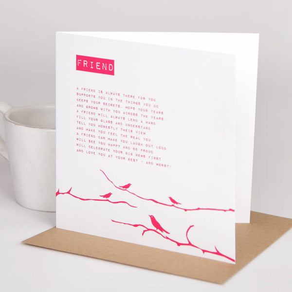 Friend Poem Card
