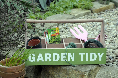 Green Wooden Garden Tidy