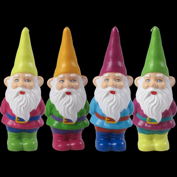 Set of 4 Gnome Candles