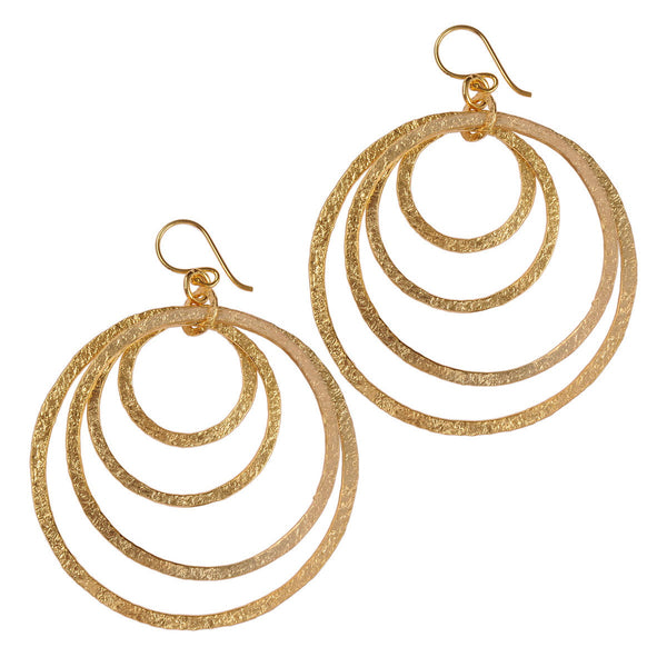 Bumi Gold Plated Multi Hoop Earrings