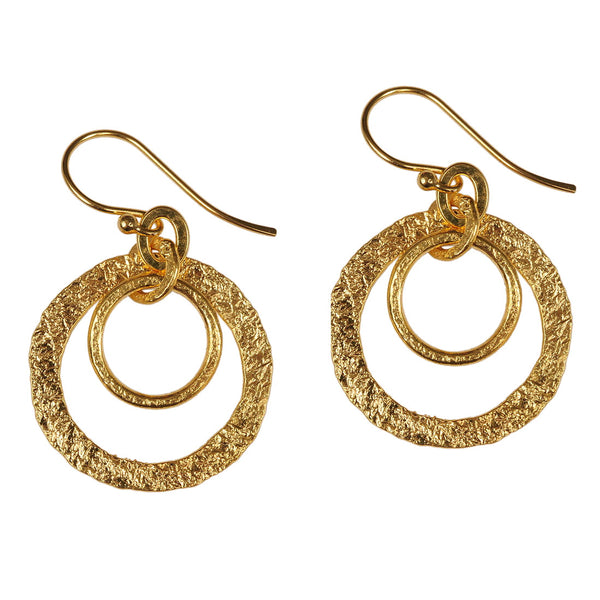 Gold or Silver Plated Double Loop Earrings