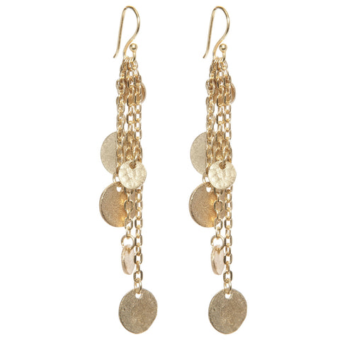 Classic Gold Plated Mini Disc Earrings