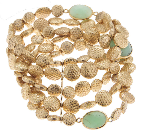 Semi-Precious Gold Plated Bracelet