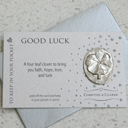 Good Luck Carded Pewter Pocket Charm