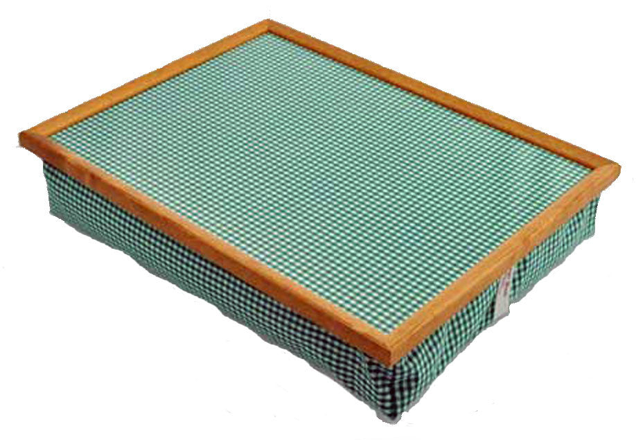 Green Check Lap Tray