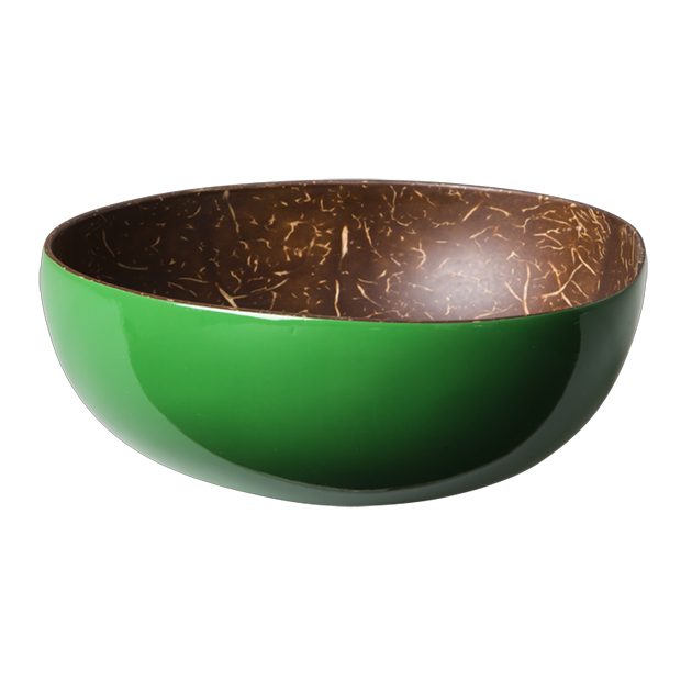 Green Coconut Lacquered Bowl