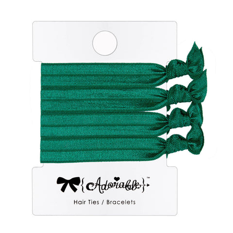 Hair & Wrist Band Multipack (Green)