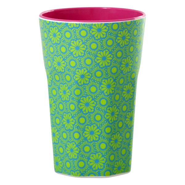 Green/Turquoise Melamine Latte Cup