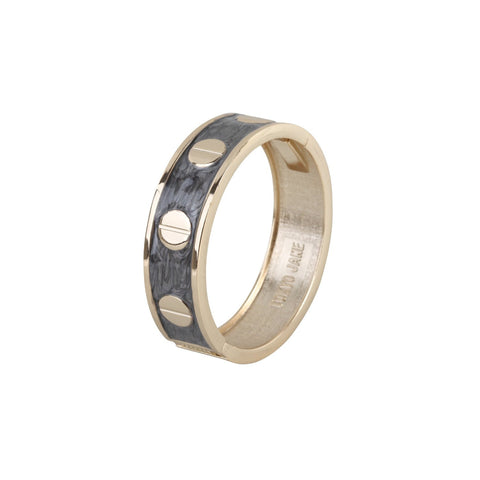 Enamel Cream Round Stud Bangle