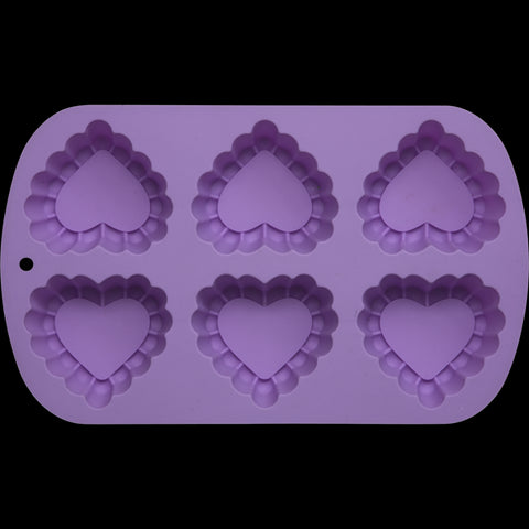 Heart Shaped Silicone Baking Mould Lavender