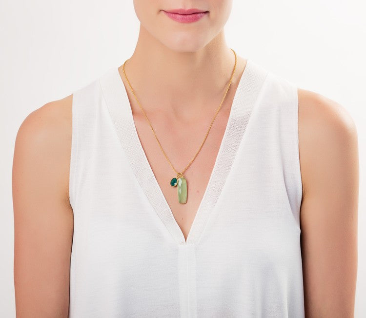 Green Hera Pendant Necklace