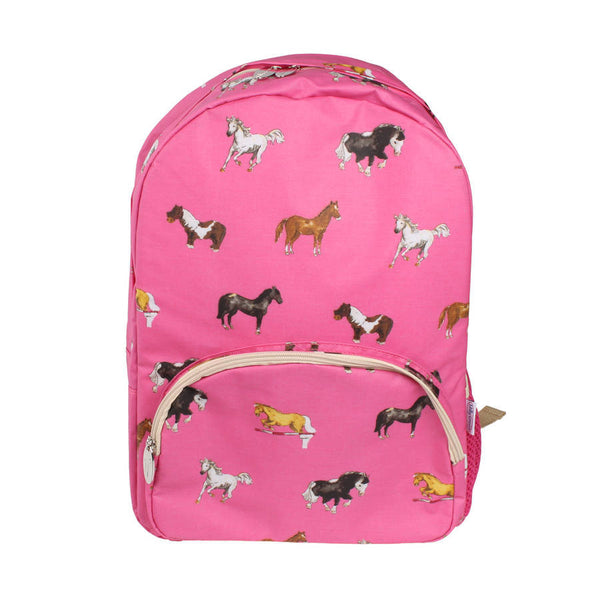 Hot Pink Horses Backpack