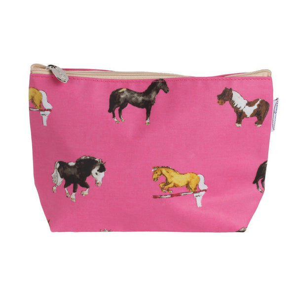 Pink Horse Cosmetic Bag o Pencil Case