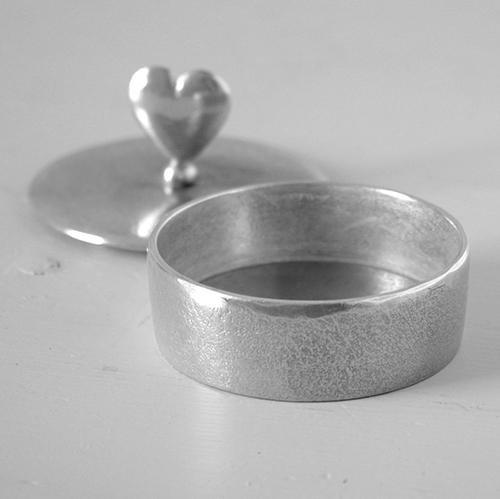 Heart Pewter Trinket Box Small