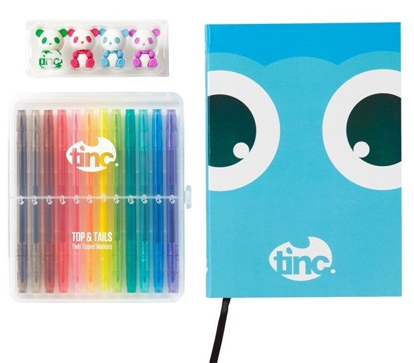 Blue Top And Tails Tinc Notebook Gift Set