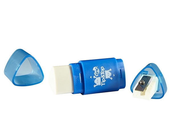 Blue Tinc Dual Tip & Top Sharpener & Eraser