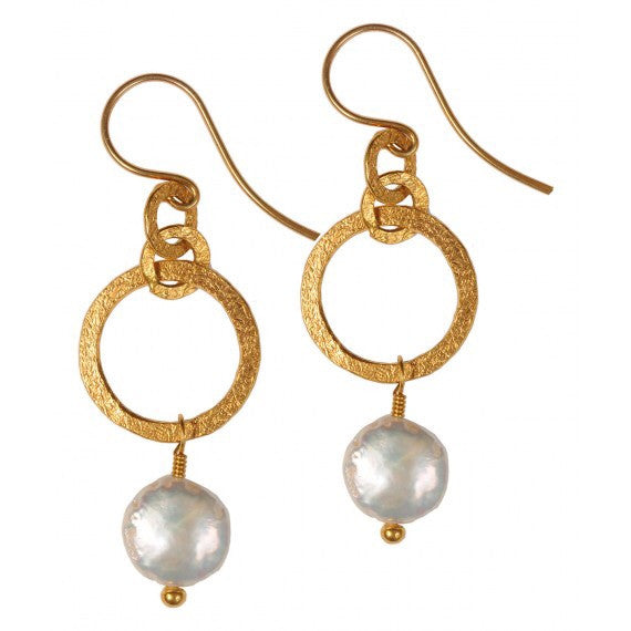 Small Gita Freshwater Pearl Earrings