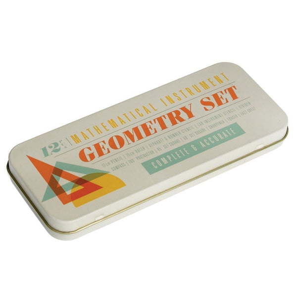 12 Piece Geometry Set In A Tin