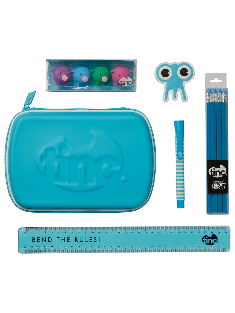 Blue Tinc School Stationery Set