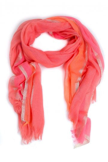 Orange Coral Aurora Scarf