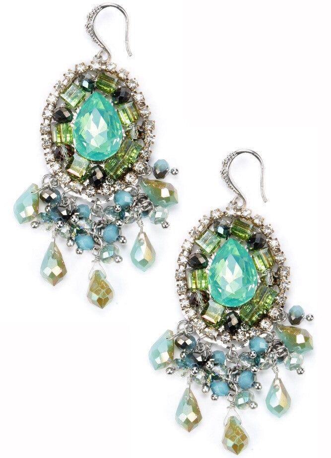 Green Greta Earrings