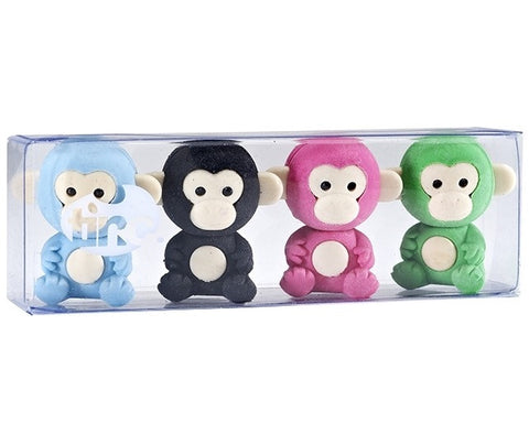 Scented Tinc Monkey Erasers