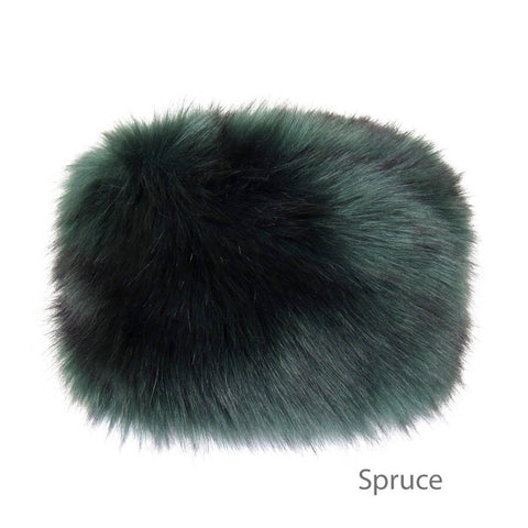 Spruce Faux Fur Pillbox Hat