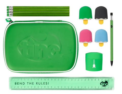 Green School Stationery Set
