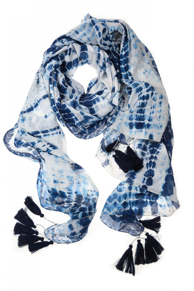 Blue Denim Shimmer Scarf