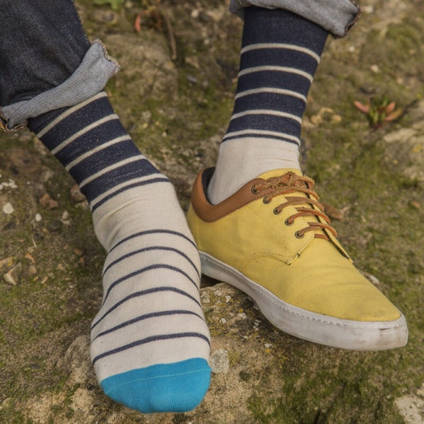 Breton Blues Fine Socks