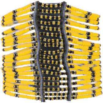 Yellow Kitui Big Beaded Maasai Bracelet