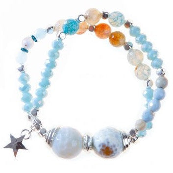 Blue Heydee Double Bracelet