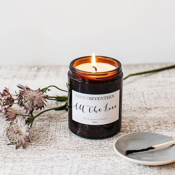 Black Pomegranate Scented Candle All The Love