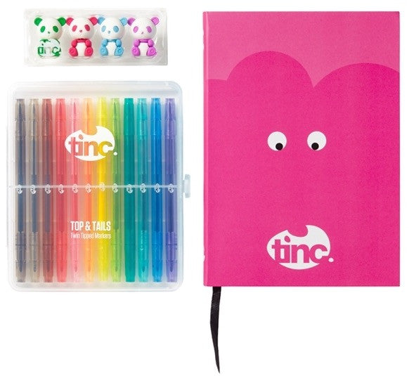Pink Top And Tails Tinc Notebook Gift Set