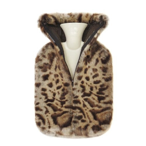 Jaguar Faux Fur Hot Water Bottle