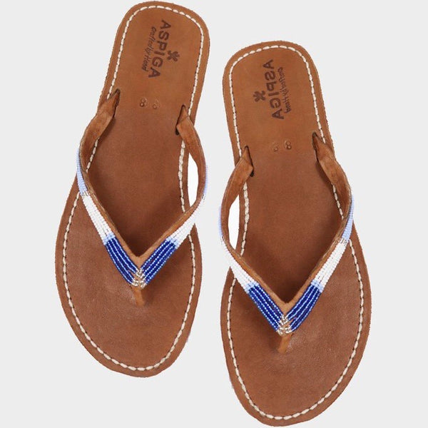 Blue Metallics Naisha Soft Sole Sandals