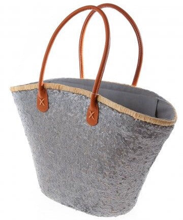 Silver/Pewter Bailey Sequin Basket