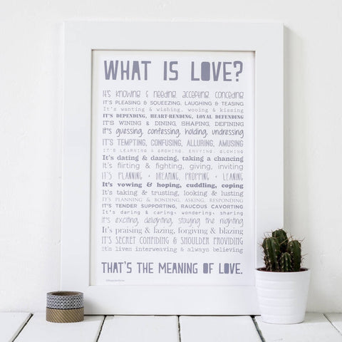 What is Love Poem Print