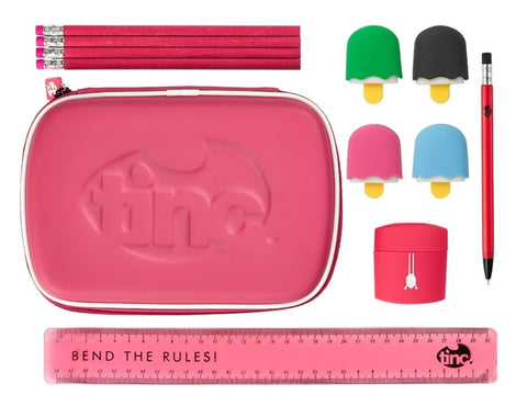 Pink School Stationery Set