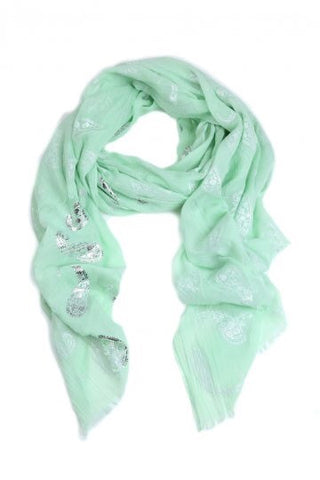 Green Pistachio Shimmer Scarf