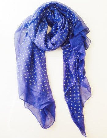 Blue Mini Skull Scarf