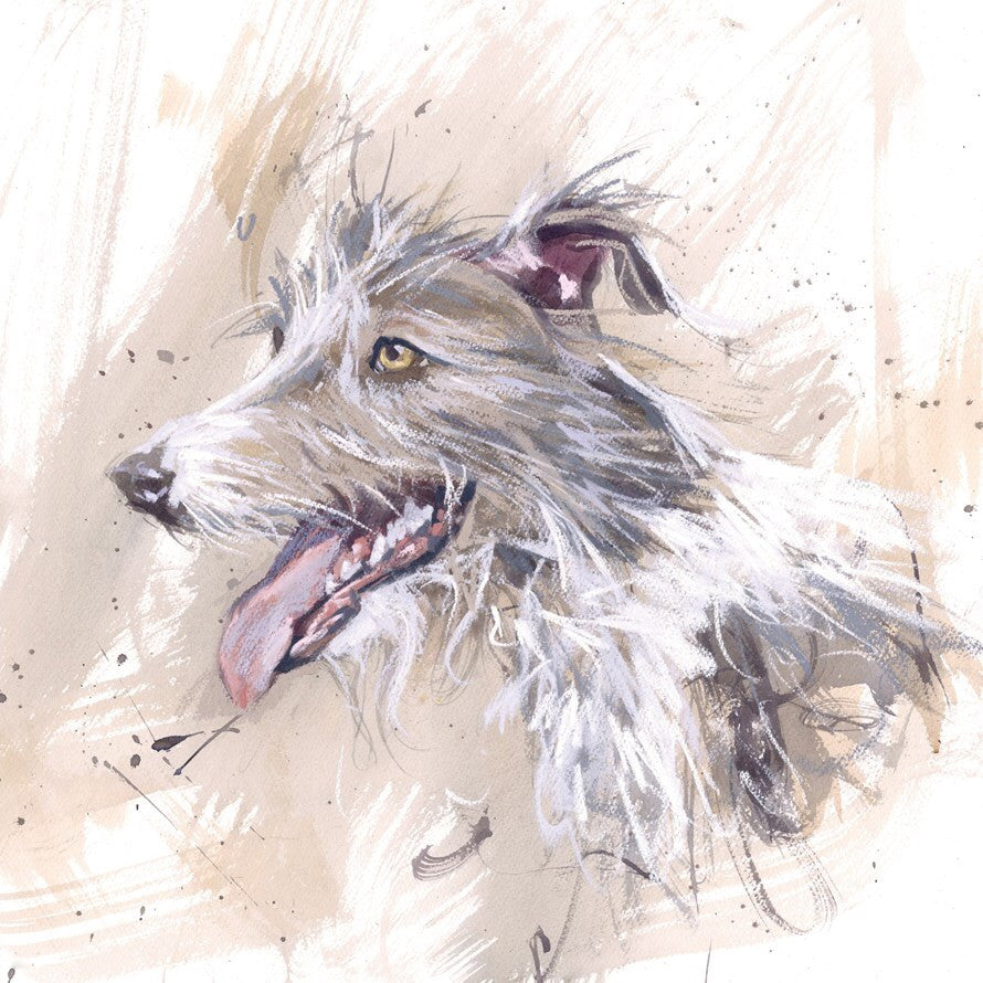 Lurcher Greeting Card